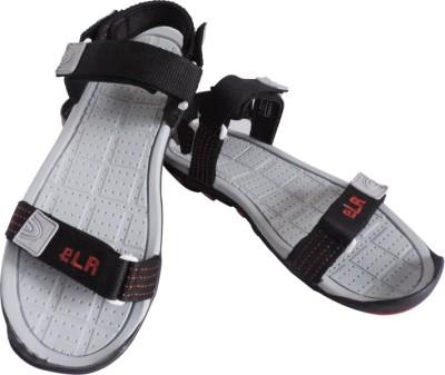 Elligator Men Black, Red Sandals