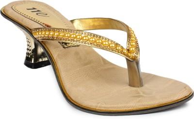 11e Women Gold Heels