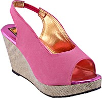 Relexop Women Pink Wedges