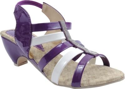 Bee Fashionable Girls Purple, White Heels