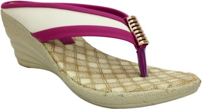 Russo Fashion Women Pink Wedges