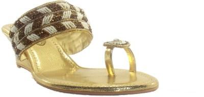 PAWAR Women Gold Heels