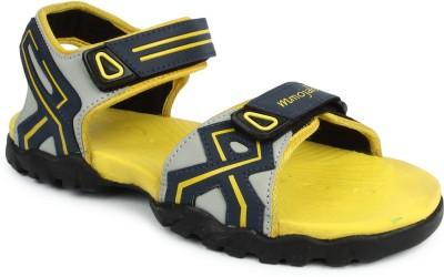 Mmojah Men Grey, Yellow Sandals