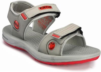 Frestol Men Grey, Red Sandals