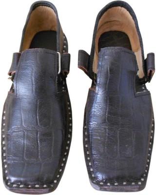 Kalra Creations Men Brown Sandals