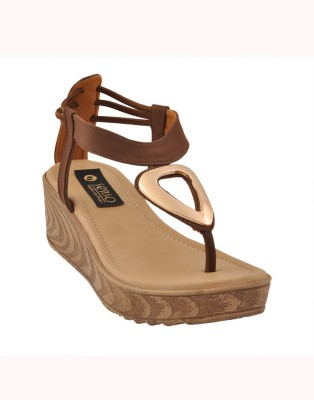 Senso Vegetarian Shoes Women Brown Wedges