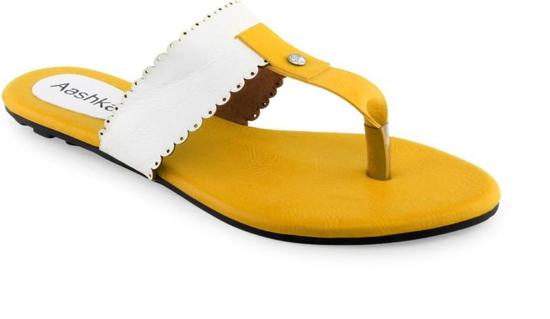 Aashka Women Yellow Flats
