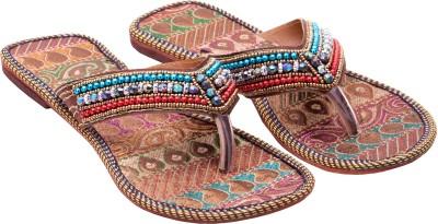 Ridhi Sidhi Multicolored Beads Women Multicolor Flats