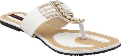 Legona Women White Flats