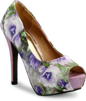 Aqua Women Purple Heels