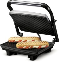 Nova 2 Slice Panini Grill Sandwich Press Grill, Toast(Grey)