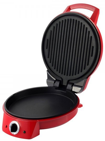 Wonderchef Pizza Italia 1370W Open Grill, Roti Maker, Pizza Pan, Grill, Waffle(Red)