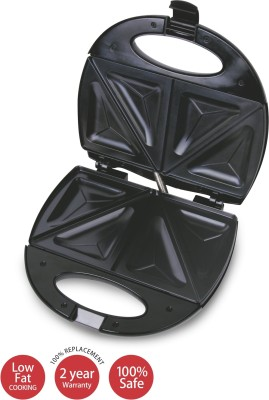 Lifelong Sandwich & Panni Maker (112 Large Triangle Plate) Toast, Grill