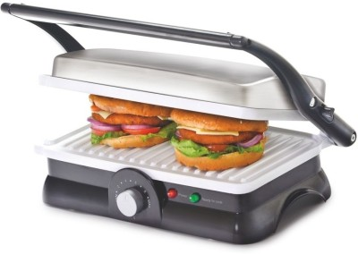 Cello Super Club 500 - 1500 Watt Grill Maker Grill, Toast(Silver, Black)