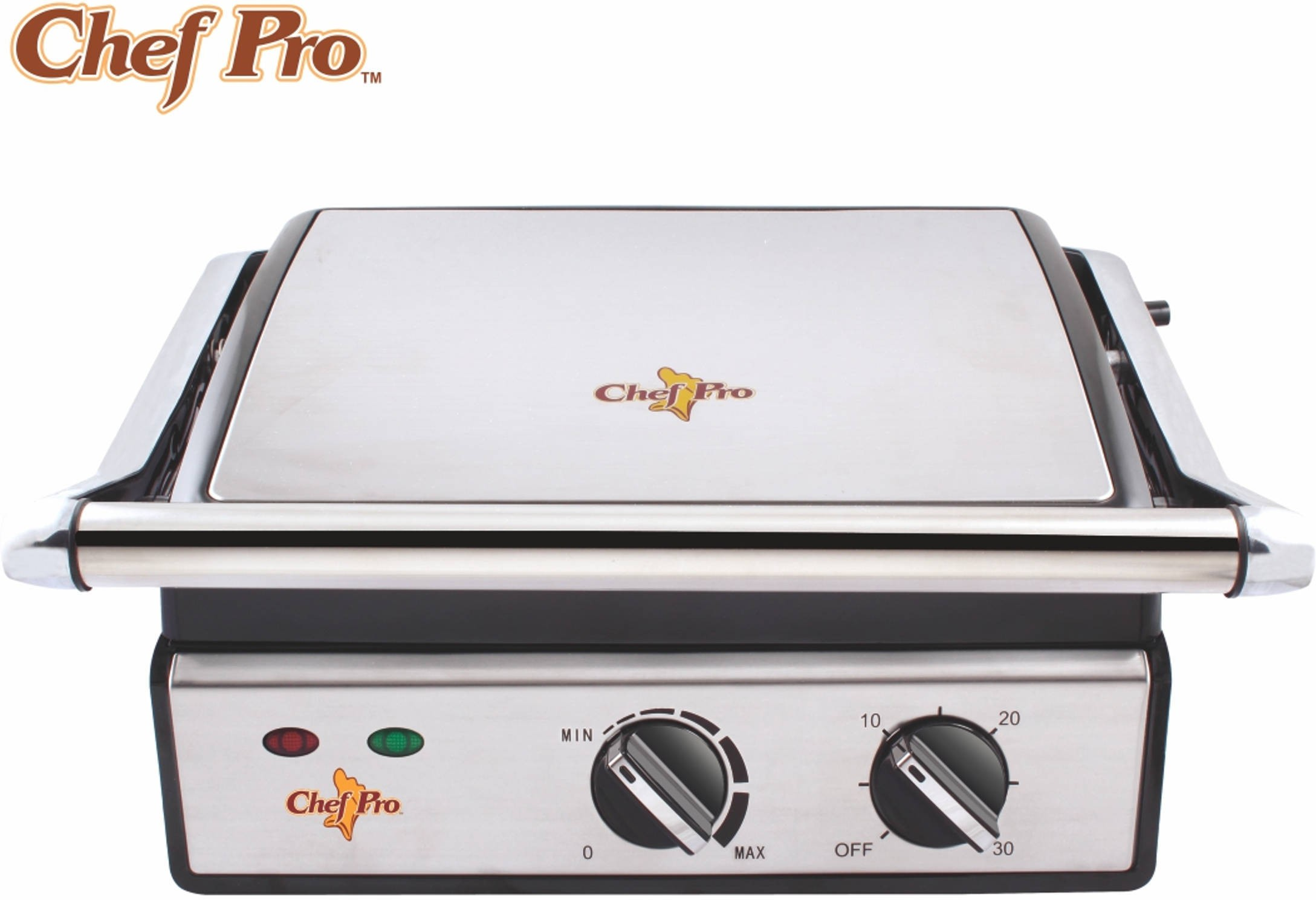 Chef Pro Nonstick Sandwich Panini Grill(Stainless Steel / Black)