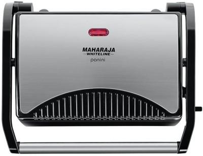 Maharaja Whiteline PANINI MAKER (SM-102) Grill, Open Grill(Premium Black, Silver)