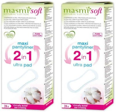 Masmi Pure Cotton 2-in-1 Pantyliner(Pack of 2)