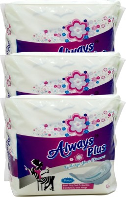 Always Plus Ultra Clean Wings Sanitary Pad(Pack of 3)