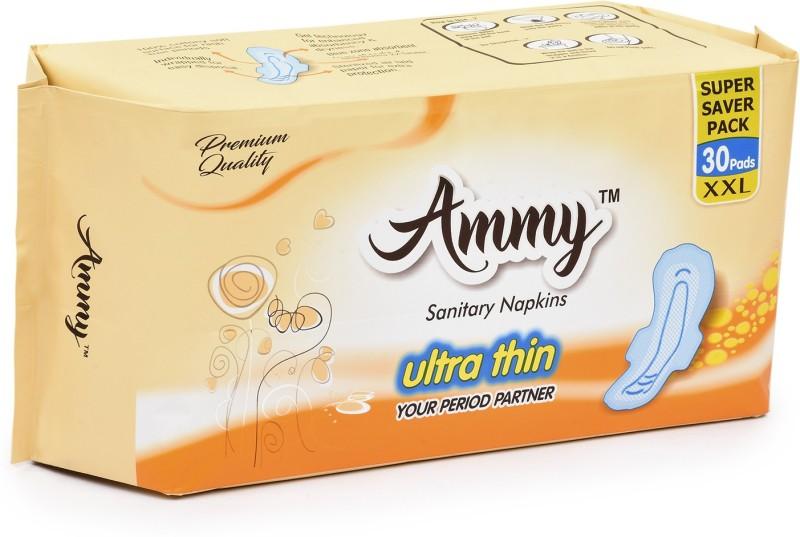 Ammy Set od 30 Pads Ultra Thin , Rashes Free XXL sanitary Pads Sanitary Pad(Pack of 1)