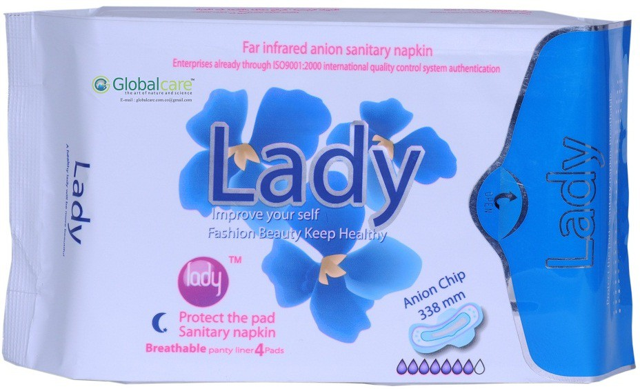 Lady Anion Far Infrared Sanitary Pad(Pack of 1)