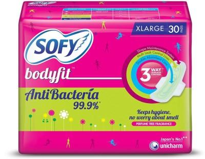 Sofy Bodyfit Anti Bacteria xLarge Sanitary Pad  (Pack of 30)