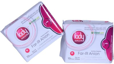 LADY ANION Far Infrared Sanitary Pad(Pack of 2)