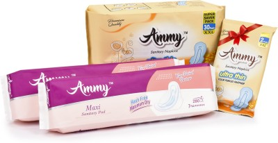 Ammy Buy Set of 3 Ultra Thin XXL Sanitary Pads Will get 1 set Free Sanitary Pad(Pack of 5)