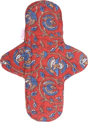 Femy Washable & Reusable Cloth Pad-Kalamkari Red Sanitary Pad(Pack of 1)