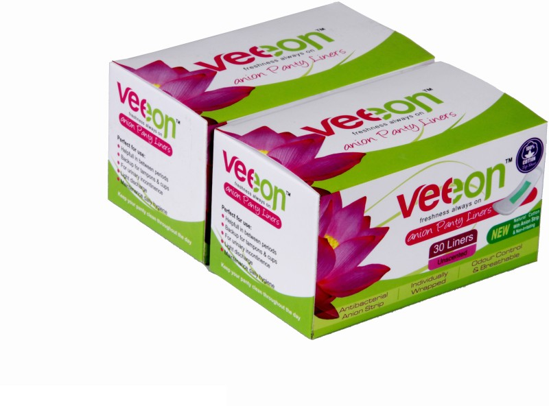 Veeon 100% Cotton 30S Each Pantyliner(Pack of 2)