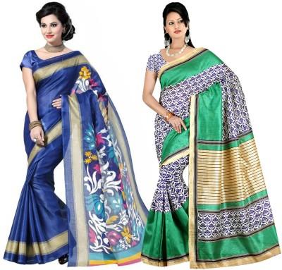 SareeShop Printed Bhagalpuri Cotton Sari