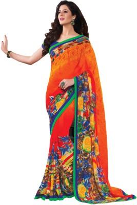 Bliss Era Floral Print Chanderi Chiffon Sari