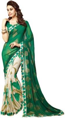 Pahal Fashion Embriodered Fashion Georgette Sari