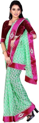 Prachi Silk Mills Self Design Fashion Tissue Sari
