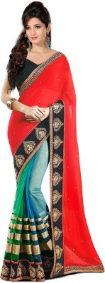 Indian Styles Embriodered Bollywood Net Sari