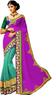 Krisha Fashion Embriodered Bollywood Georgette Sari