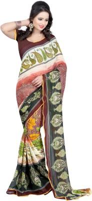 Fashion Hub Sarees Printed Fashion Georgette Sari
