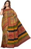Mann Checkered Daily Wear Cotton Saree (...