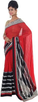 Vikrant Collections Plain Bollywood Chiffon Sari