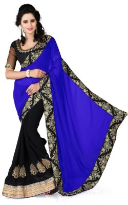 Jay Ambe Self Design Fashion Georgette Sari