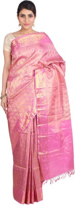 Indian Artizans Woven Kanjivaram Pure Silk Sari