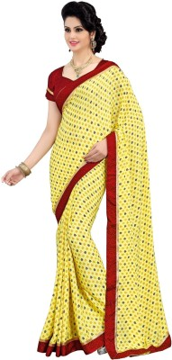 Vatsal Silk Mills Printed Daily Wear Crepe Sari