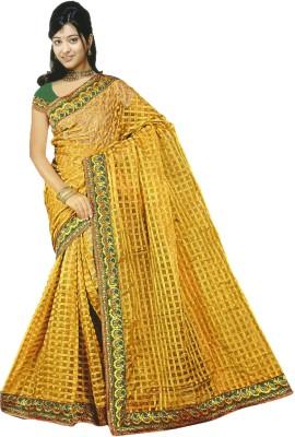 Umera Checkered Daily Wear Organza Sari