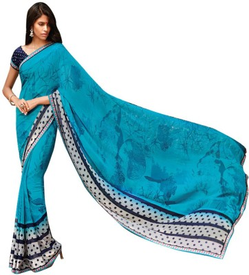 Laxmipati Printed Bollywood Pure Georgette Sari