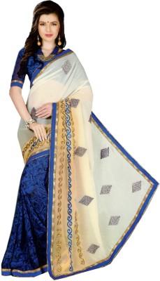 wingsenterprises Self Design Bollywood Pure Georgette Sari