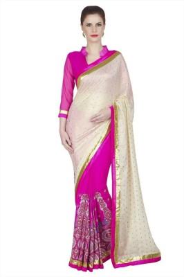 Designersareez Embriodered Fashion Georgette, Chiffon Sari