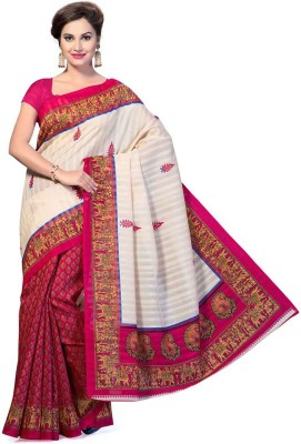 MAHESH TRADERS Embriodered Bollywood Art Silk Sari