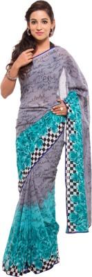 Geisha Printed Fashion Synthetic Georgette Sari