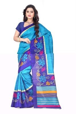Styloce Printed Bhagalpuri Art Silk Sari