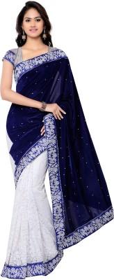 Today Deal Embriodered Fashion Velvet Sari