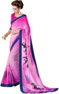Attireme Printed Daily Wear Georgette Sari